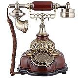 Antike Vintage Festnetztelefone, Wähleinstellungen schnurgebundene Telefone, Retro-Telefon mit Körper aus Harz Körper, Home/Office Zubehör Dekor