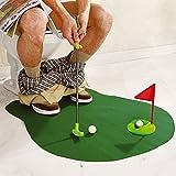 Sentik® WC-Golf Töpfchen Putter Badezimmer Spiel Neuheit Putting Geschenk Spielzeug Trainer S