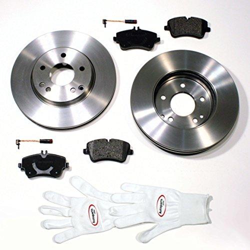 Autoparts-Online Set 60007686 Bremsscheiben/Bremsen + Bremsbeläge + Warnkabel Vorne