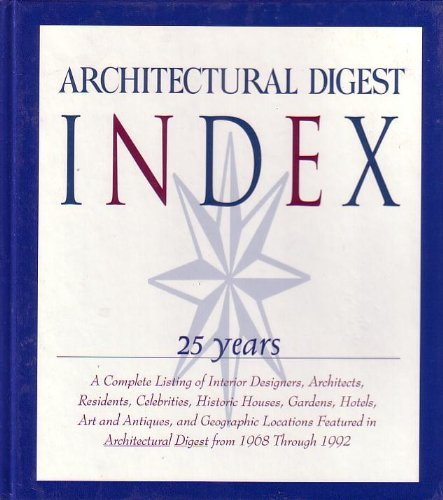Architectural Digest Index : 25 Years [Hardcover] by