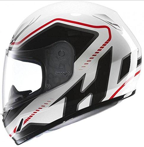 Casco Integrale Hjc cl-y taglia S colore bianco, nero e rosso lucido nove