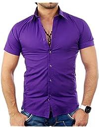 Tazzio - Chemisette homme violet Chemise TZ7020 violet - Violet