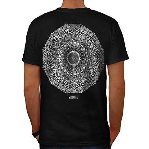 Indien Mandala Modèle Céramique Amusement Men S T-shirt le dos