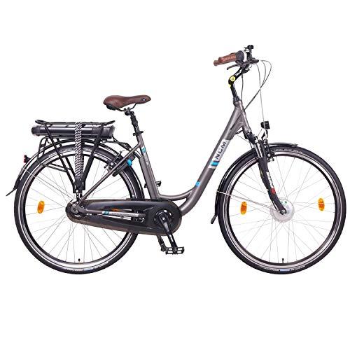 "NCM Munich N8C 28"" Bicicleta eléctrica City E-Bike, Batería 36V 13Ah 468Wh, Motor Frontal y con Freno a contrapedal"