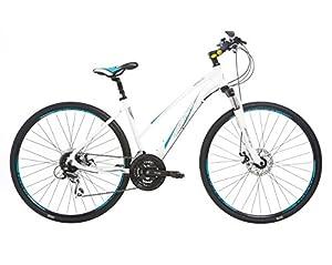 Indigo Women's Verso X3 Hybrid Bike - Silver, 15-Inch