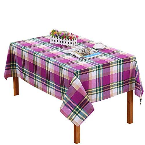 CJH Salon Table basse Table carrée Nappe TV Cabinet Nappe Tissu Rectangulaire Coton Art Lattice Table Mat