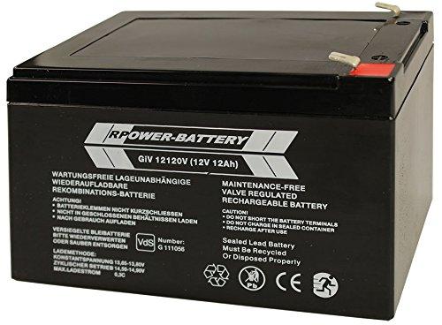 12V 12Ah RPower®Longlife VdS-Batterie Profibatterie in AGM Technik mit VdS Prüfzeichen, bestens geeignet für Alarm- und Sicherheitstechnik sowie USV Geräte
