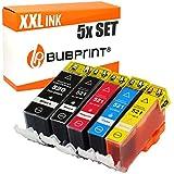 5 Bubprint Druckerpatronen kompatibel für Canon PGI-520 CLI-521 für Pixma IP3600 IP4600 IP4700 MP540 MP550 MP560 MP620 MP630 MP640 MP980 MX860 MX870