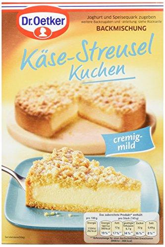 Dr. Oetker Käse-Streusel Kuchen, 6er Pack (6 x 730 g) (Am Besten Backpulver)