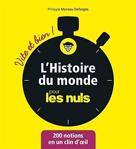 L'Histoire du monde pour les Nuls - Vite et Bien par Philippe MOREAU DEFARGES