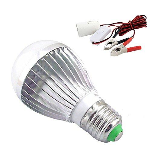 Bonlux 7W 12V LED-Solarbirnen-Installationssatz-kühle weiße 6000K Schraube ES E27 LED-Lampe für im Freien kampierende wandernde Fischen-Notbeleuchtung