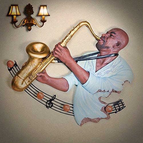 Bar musicale parete di resina sarà decorata con figure di illustrazioni per il montaggio a parete con decorazioni in soggiorno,G)