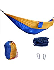 Doble Personas Ultraligero Outdoor Hamaca Camping Viajes Hamaca 140 * 260 CM