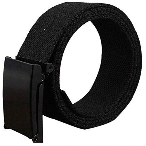 Gespout Hombres Cinturón Cinturones Ajustable Lienzo Estudiante Hipoalergénico de Plástico Hebilla Para Senderismo Esquiar Actividades al Aire Libre Otoño invierno Ajustable Belt Negro