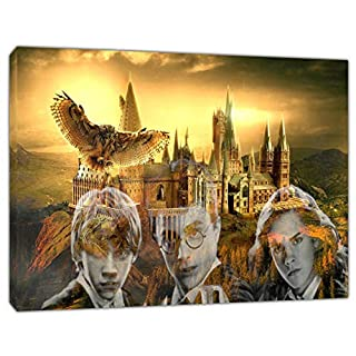 Harry Potter Movie Picture Photo Print On Framed Canvas Wall Art Home Decoration 24'' x 16 inch -38mm Depth