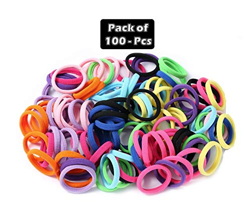 Grabdeal rubber bands for baby girls hair admirable set of 100 pieces multicolor band