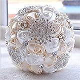 Brautsträuße Elegant Blumenstrauß Handmade Rosa für Hochzeit Party LianLe