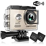 DBPOWER EX5000 Originale Versione WiFi 14MP FHD Sport Action Camera Impermeabile con 2 batterie e Kit Accessory Inclusi (Bianco)