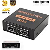 Microware UHD 3D 4Kx2K Full HD 1080p HDMI Splitter 1X2 Port Hub Repeater Amplifier