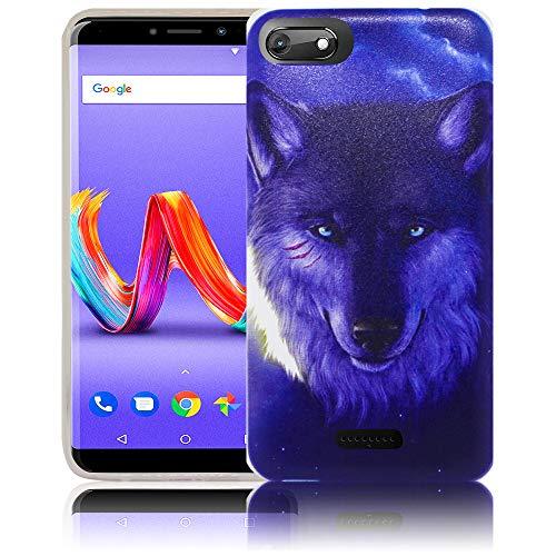 thematys Passend für Wiko Harry 2 Nacht Wolf Handy-Hülle Silikon - staubdicht stoßfest & leicht - Smartphone-Case