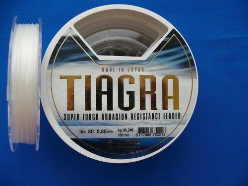 Shimano Tiagra Leader Schlagschnur 80lb 0,85mm 100m Meeresvorfach -