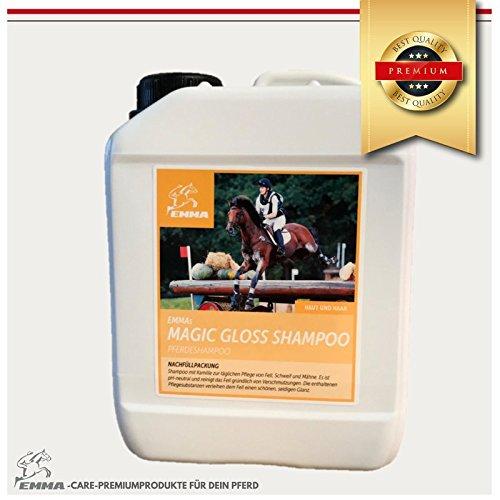 Pferdeshampoo I Pferdepflege I Sparpaket 2,5 L I Fellpflege Hunde & Pferde I Shampoo für Pferde mit Kamille und wertvollen Proteinen I Pflege für Fell-, Mähne und Schweif I für seidigen Glanz I mild, ph-neutral I reinigigt gründlich von Schmutz und Staub I Premium Pflege I EMMA I 2500 ml