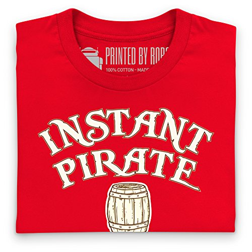 Instant Pirate T-Shirt, Herren Rot