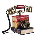 Wählscheibentelefon -Klassischer Metallklingel Elektronischer Klingel -Jahrgang Antique Style Klassische Schnurgebundenes Telefon -für Schlafzimmer, Wohnzimmer, Studie, Büro, Herrenhaus
