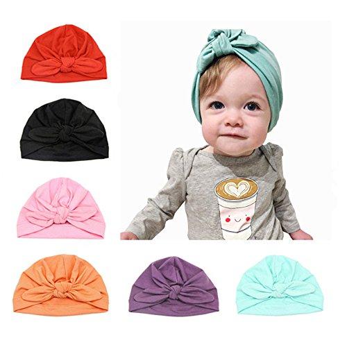 6 Stücke Baby Mütze Neugeborene 100% Super Weich Baumwolle Elastische Stretch...
