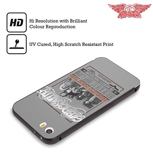 Ufficiale Aerosmith Loud Proud Arte Da Poster 3 Nero Cover Contorno con Bumper in Alluminio per Apple iPhone 5 / 5s / SE 1976 Europa Giappone