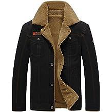 ZhuiKun Hombre Clásico Slim Fit Piel Sintética Chaqueta Prendas De Vestir  Exteriores 40fefc39a6e9