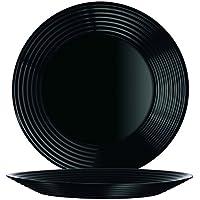 Arcoroc Harena Uni black flat plate 25cm, 6 piece