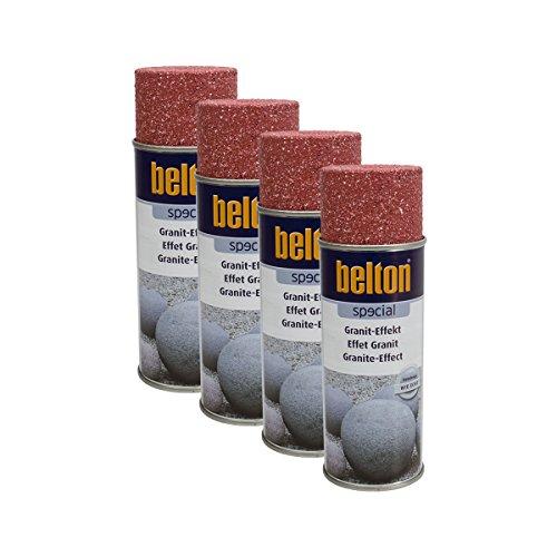Preisvergleich Produktbild 4x KWASNY 323 358 BELTON SPECIAL Granit-Effekt Granit-rot 400ml