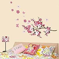 Anself Bella Peach Blossom Fiori smontabile della parete di arte