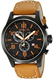 Invicta I-Force Men's Quartz Watch with Black Dial  Chronograph display on Brown Leather Strap 18498