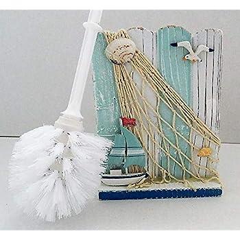 Seashell Seashore Nautical Toilet Brush Amp Holder Amazon