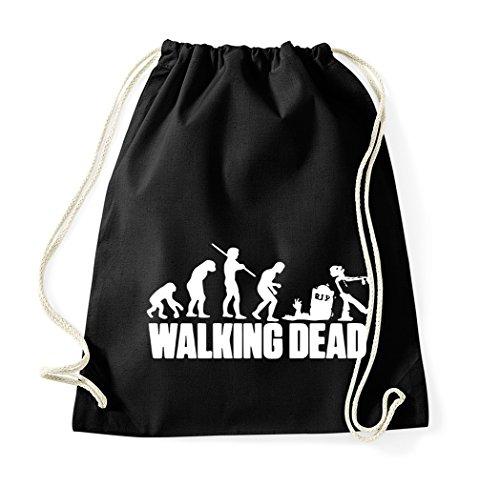 TRVPPY Baumwolle Turnbeutel Modell Walking Dead, Sportbeutel Beutel Rucksack Tasche (Walking Dead Hats)