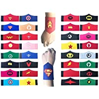 KRUCE Superhero Party Supplies,Superhero Cosplay Masks,Party Favors Half Masks for Children or Boys Aged 3+