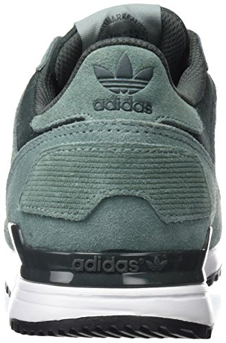 adidas Zx 700, Baskets Basses Mixte Adulte Vert (Vapour Steel/metallic Silver-sld/utility Ivy)