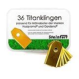 Steinfort 36 extra scharfe und langlebige Titanklingen für einen sauberen und einheitlichen Rasenschnitt passend für Mähroboter der Marken Husqvarna und Gardena