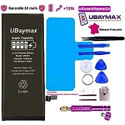 UBaymax Batterie Compatible avec iPhone 7 Haute Capacité 2200 mAh avec +15% de Plus Kit Batterie de Remplacement avec Outils Complets Garantie 24 Mois