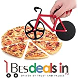 Dissect Creative Bike Pizza Cutter Stainless Steel Bicycle Pizza Scissors Home Dual Use Pizza Cutter (1 Piece, Multi Color)