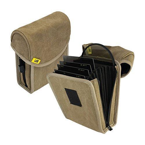LEE Filters Field Pouch Sand Filtertasche für bis zu 10 Filter aus dem 100mm-System - z.B. für Grauverlaufsfilter - Sandfarben (Lee Filterhalter 4x6)