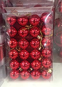 dueesse Christmas-Bo x 24bolas lucide, rojo, 5.ds2759
