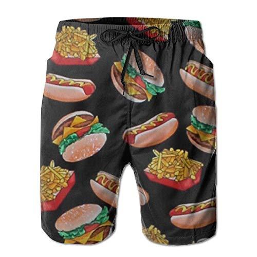 Cortos Bee Para Pantalones Print Hamburguesas Playa Trajes Y Ogs De Baño Ropa Hotd Brown Hombres BCoerdx