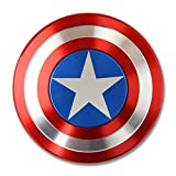 #9: Captain America Style Metal Fidget Hand Spinner with Zipper Pouch for Fun, ADHD