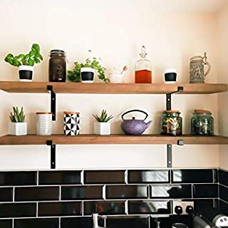 HomeZone® 1x Vintage Rustic 140cm Scaffold Board Wooden Wall Shelf All Fixings & 2 Metal Brackets Included. Heavy Duty Shabby Chic Wooden Shelf Unit For Home Storage & Organisation