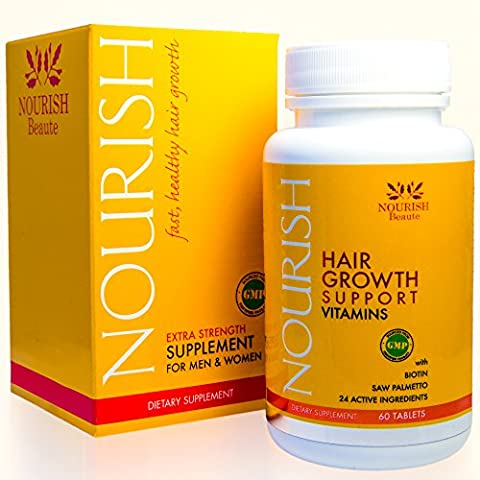 Biotin Hair Growth Vitamins With Powerful DHT Blockers- Guaranteed Results to Reduce Loss and Improve Skin and