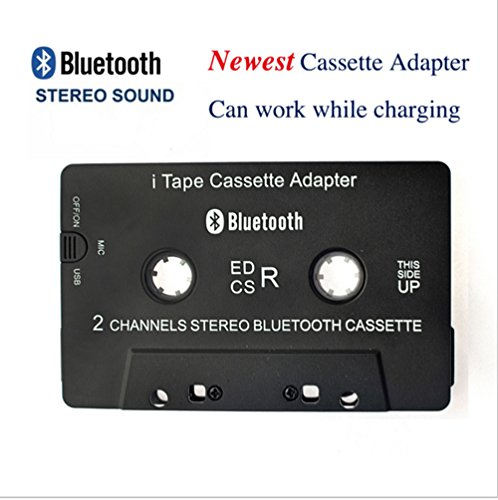 Kassette Bluetooth-adapter (Kabelloser iTape Adapter für Kassettenrecorder Läuft Während dem Laden CSR Bluetooth V4.0 + EDR Stereo-Audio-Empfänger-Adapter für Auto)