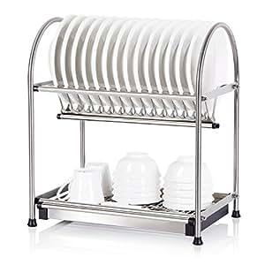 lifewit edelstahl abtropfgestell abtropfhalter rostfrei abtropfgitter geschirrst nder 2 ebenen. Black Bedroom Furniture Sets. Home Design Ideas